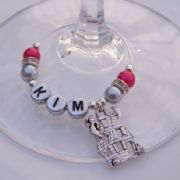 Haunted House Personalised Wine Glass Charm - Elegance Style